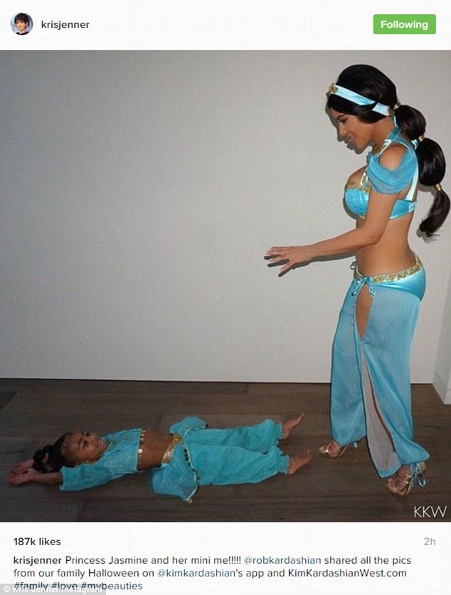 Kim Kardashian Is All Smiles As She Dresses As Princess Jasmine