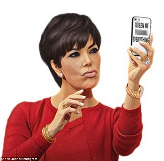 Kim Kardashian's Team Create Kris Jenner Emoji For Her 61st Birthday