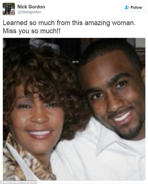 Nick Gordon Shares Tribute To Whitney Houston  On Twitter