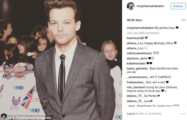 Louis Tomlinson's Late Mother Johannah Deakin Last Instagram Post Was A Tribute To Her Super Star Son