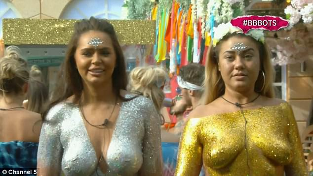 Big Brother's Chanelle McCleary And Ellie Young Cover Nude Boobs In Glitter For Shopping Task