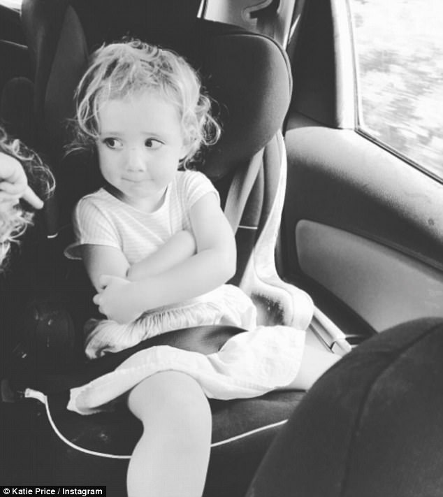 Katie Price Causes Concern With Instagram Image Of Daughter Bunny With Ill-Fitting Seatbelt