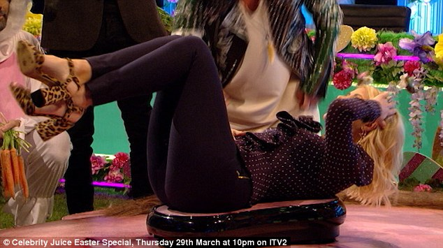 Holly Willoughby Worries She Will Wet Herself While On The Wobble Board On Clebrity Juice