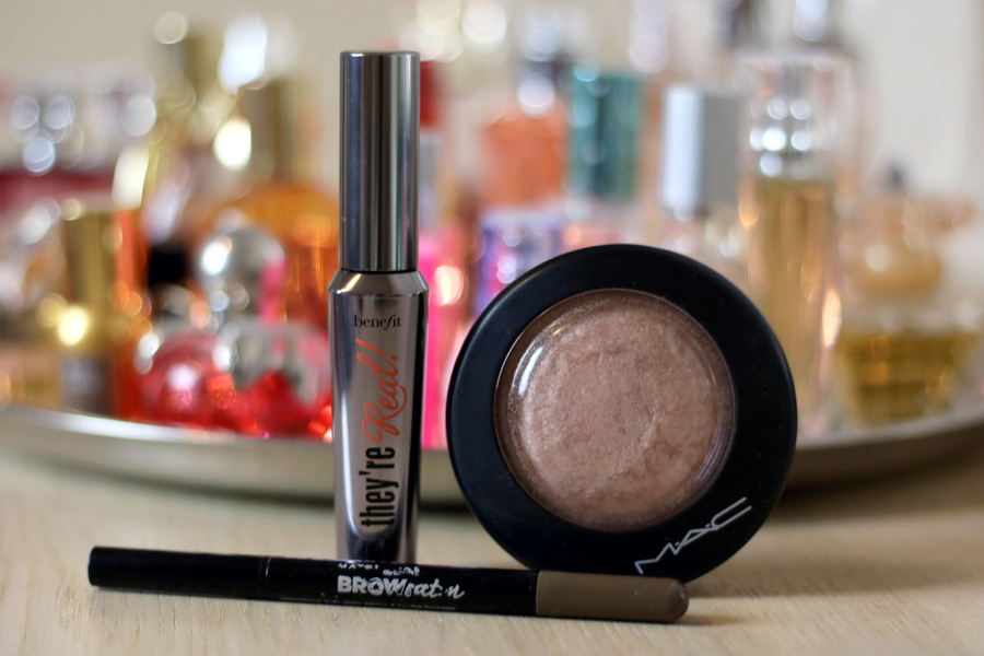 Benefit They're Real Mascara, MAC Soft & Gentle, Maybelline BrowSatin