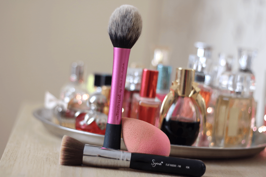 Real Techniques Blush Brush, Sigma F80 Flat Top Kabuki, Beautyblender