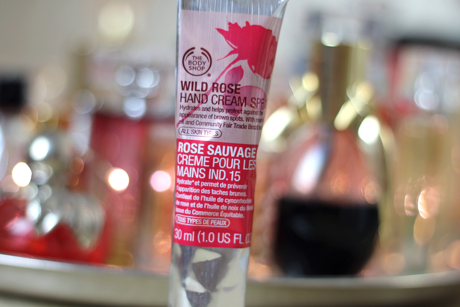 Wild Rose Hand Cream The Body Shop packaging