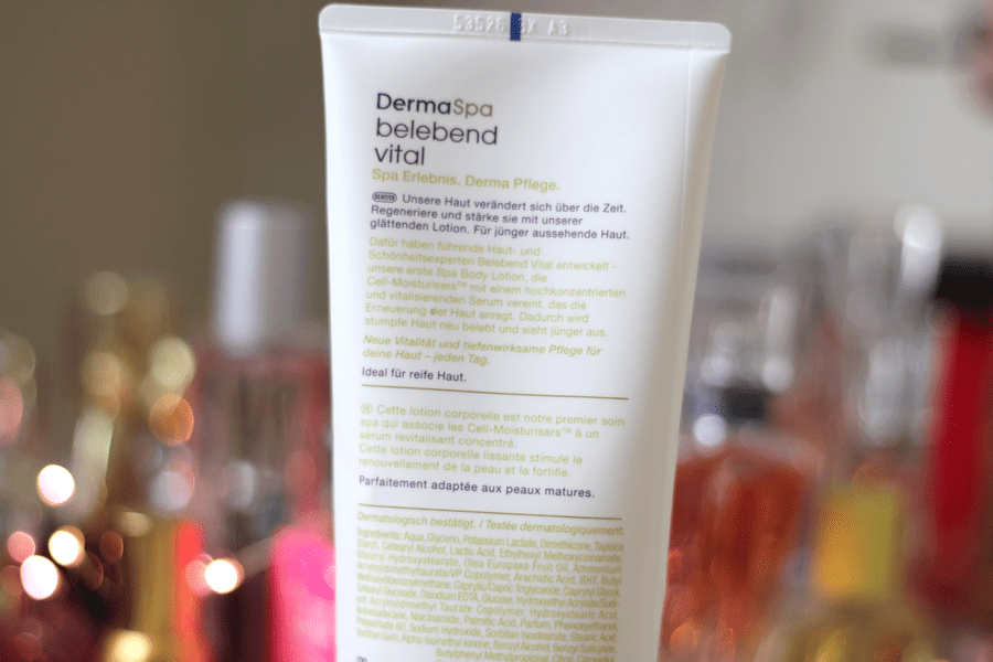 Dove Derma Spa Youthful Vitality Body Lotion Claims
