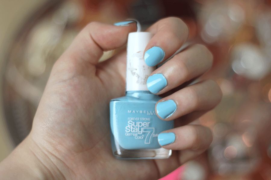 Maybelline Super Stay 7 Days Gel Polish Uptown Blue Nail Swatch 2