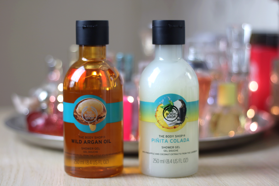 The Body Shop Wild Argan Oil and Pinita Colada Shower Gel