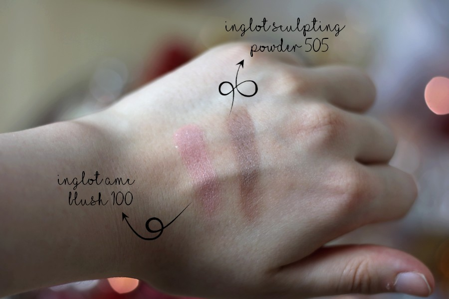 Inglot Freedom System Contour and Blush Duo Swatches