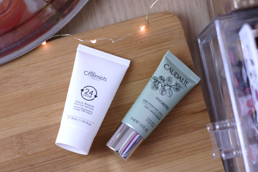 Skincare Try-Outs: Caudalie Vine Activ 3 In 1 Moisturiser & Skinchemists 24H Aqua Repair Facial Serum