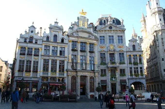 Stadtansicht Grote Markt in Brüssel. - Flandern Rundfahrt