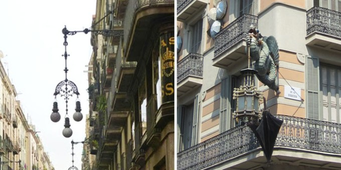 sehenswuerdigkeiten-barcelona-katalonien-reisetipps-spanien-Barri-Gotic-lampen-strassenlaternen