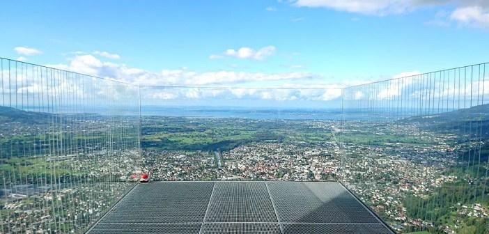 Der Karren in Dornbirn </br>Vom gläsernen Balkon in die Welt schauen.