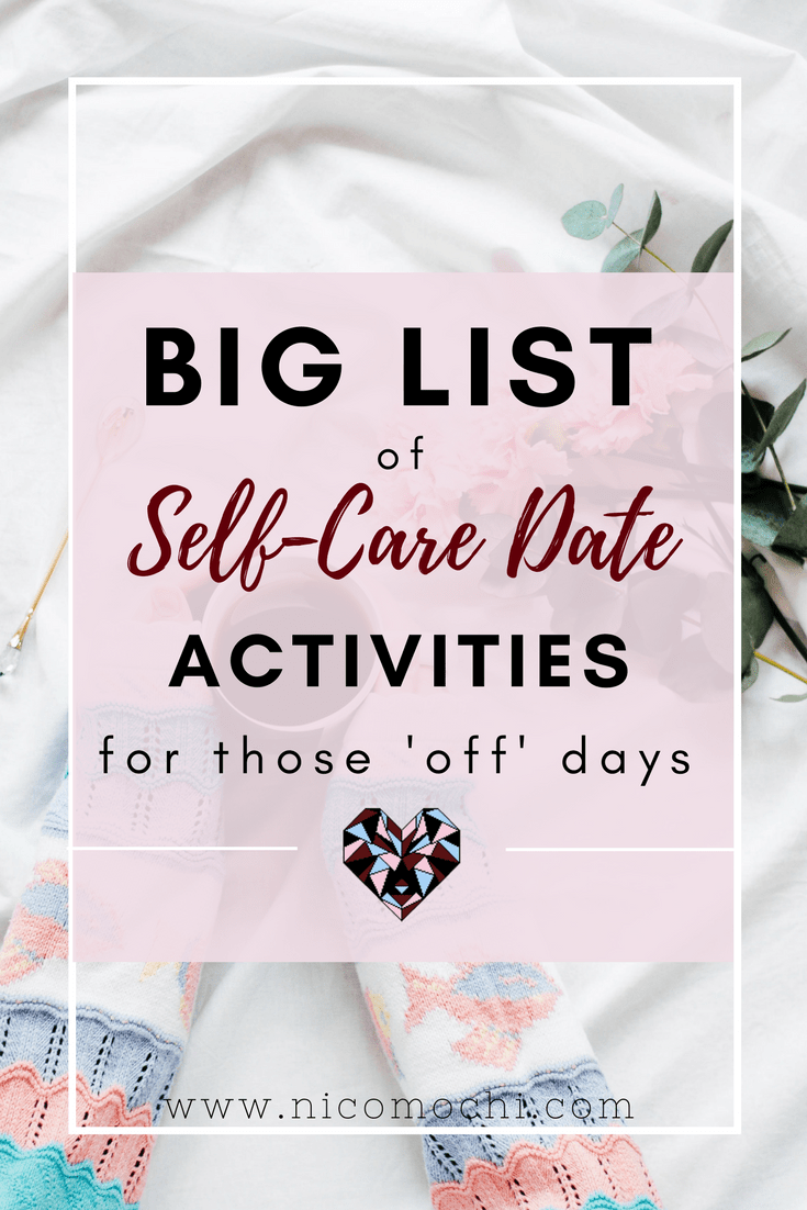 "I get it. It's tough to #selflove. It's a deeply embedded habit to berate yourself and ""kick your butt back into gear"". That's why a self-care date is needed - for practice in #BKTY."