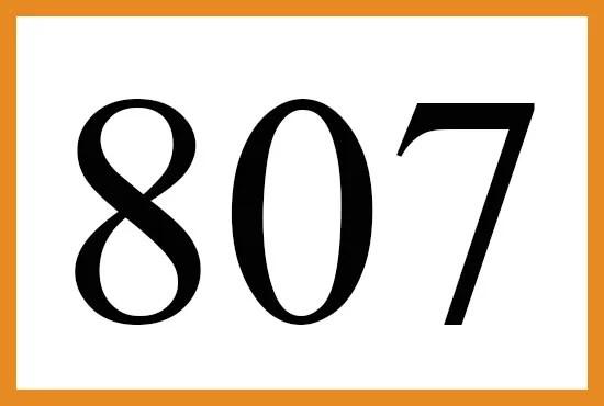 エンジェルナンバー807の意味について