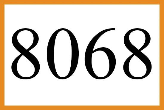 8068のエンジェルナンバーの意味