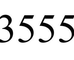 3555のエンジェルナンバーの意味