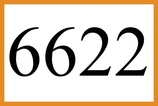 6622のエンジェルナンバーの意味について