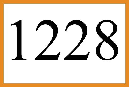 1228のエンジェルナンバーの意味について