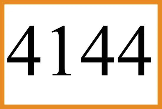 4144のエンジェルナンバーの意味について