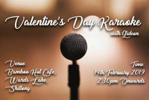 Karaoke Valentines Day NiConnect Bamboo Hut