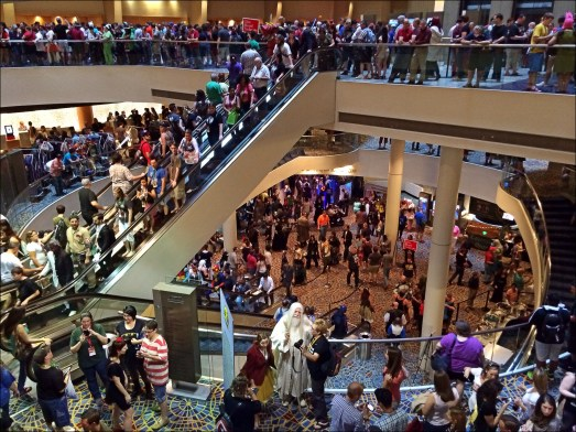 Inside the Marriott - three levels of geekery