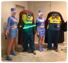 Jedi Minions and the stewardesses from the Fifth Element