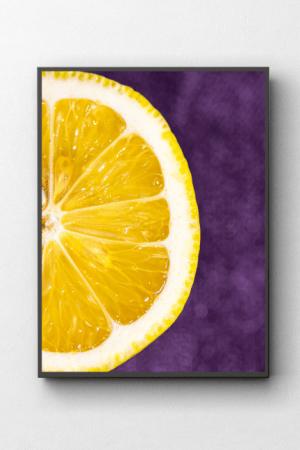 Fotografia kulinarna cytryna obraz na ścianie