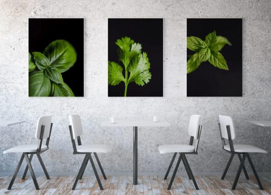Zdjęcia obrazy dekoracja ściany kuchni i restauracji