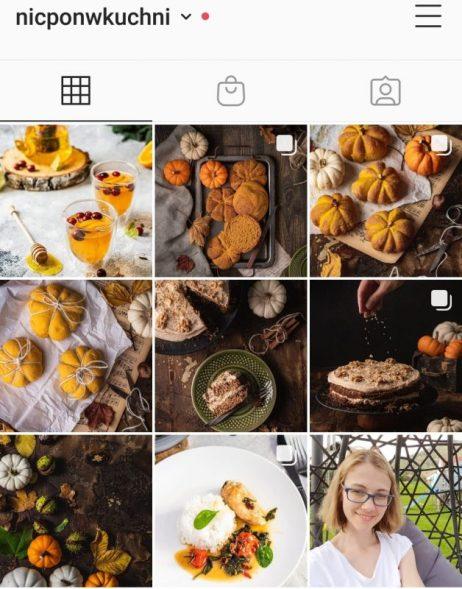 Blog kulinarny Instagram
