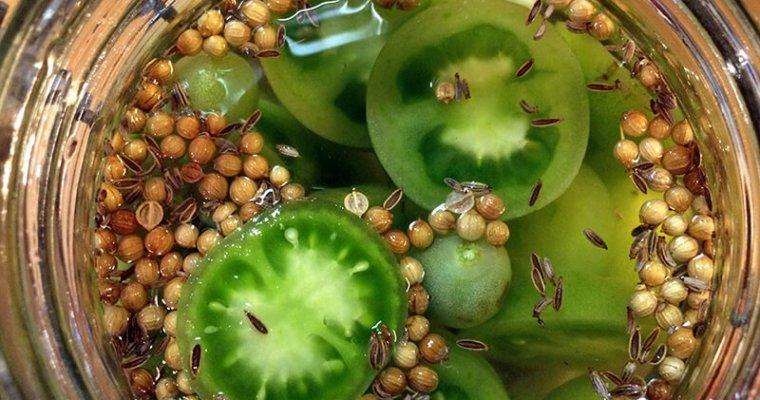 Pickle de tomates vertes