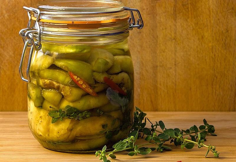 Légumes confits dans l'huile