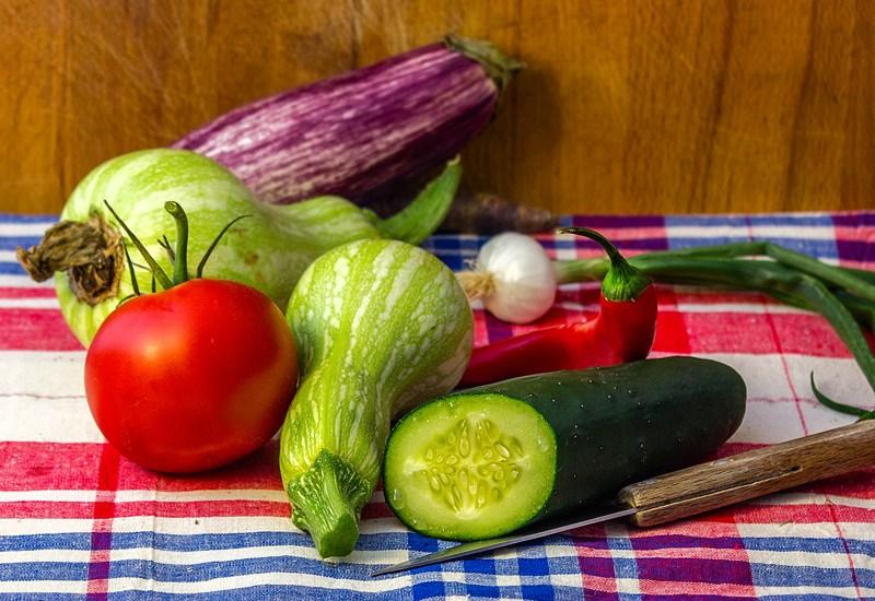 Surir les légumes d'été