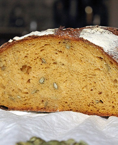 Pain au potiron, au levain naturel