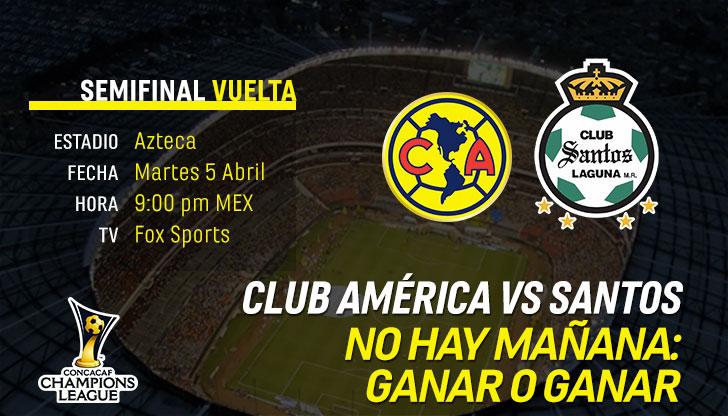 Previo Club América vs Santos Concachampiosn 2016