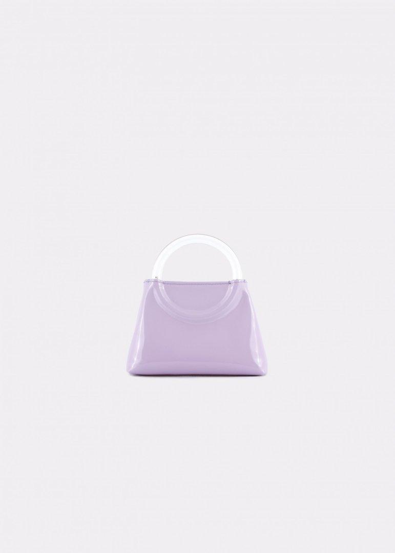 NIDO Bolla Micro bag liliac patent leather Plexy_front view