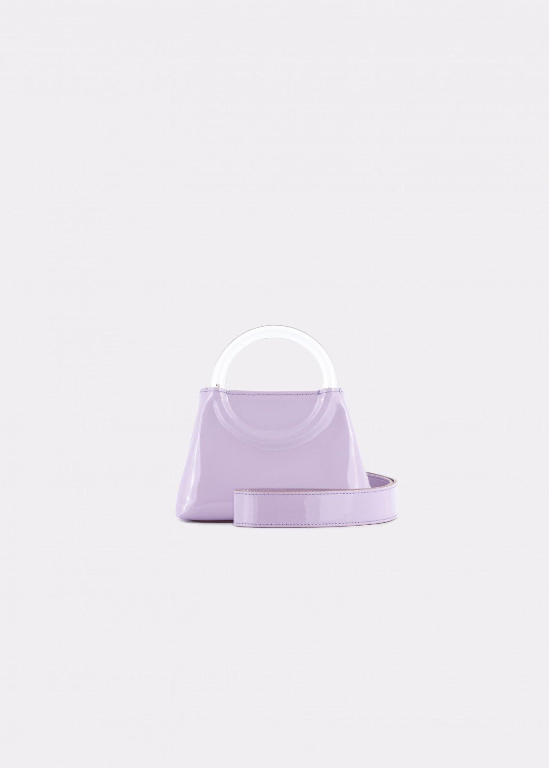 NIDO Bolla Micro bag liliac patent leather Plexy_shoulder strap view