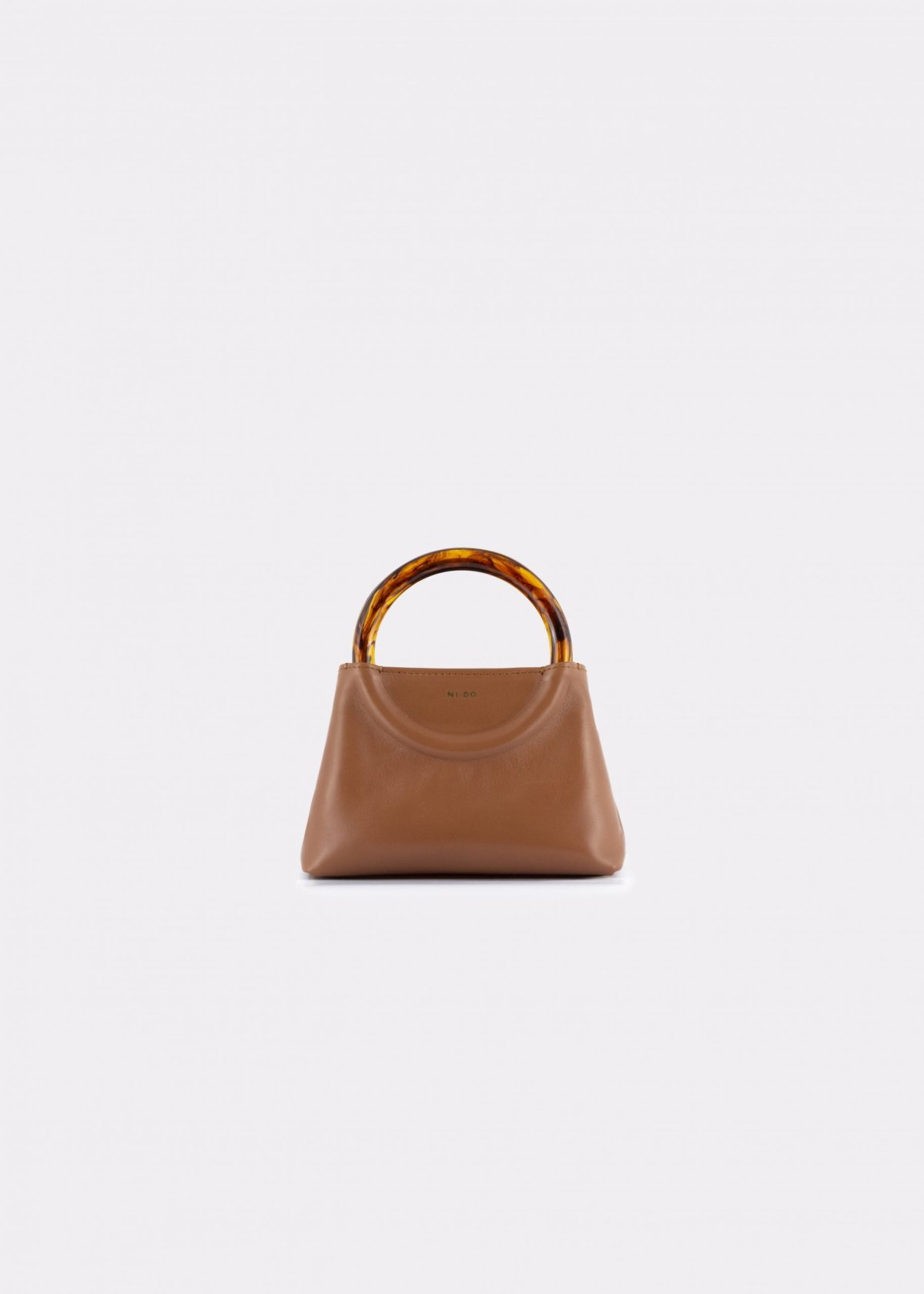 NIDO Bolla Micro bag biscuit leather Amber_front view