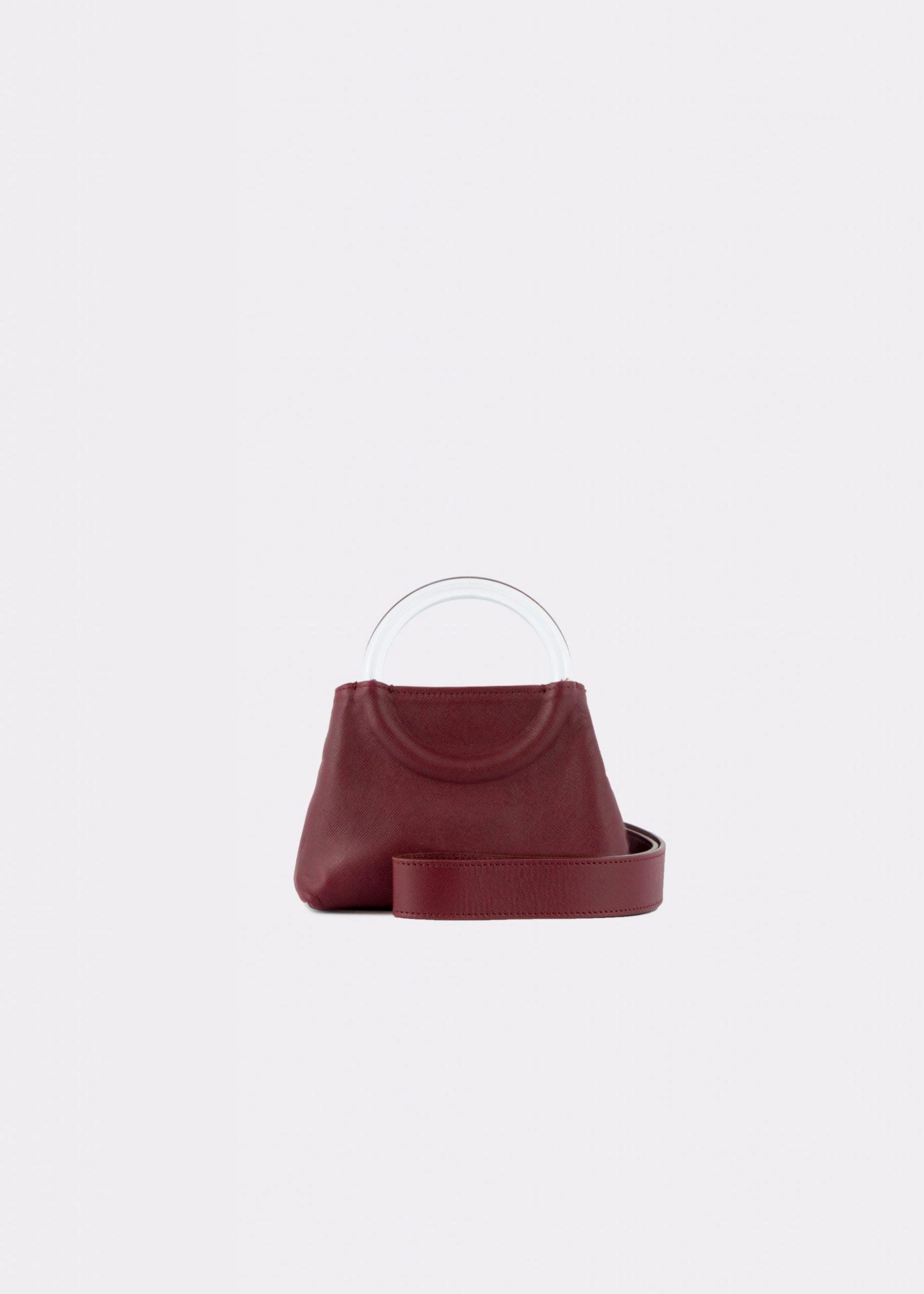 NIDO-Bolla_Micro-bag-bordeaux_shoulder strap view