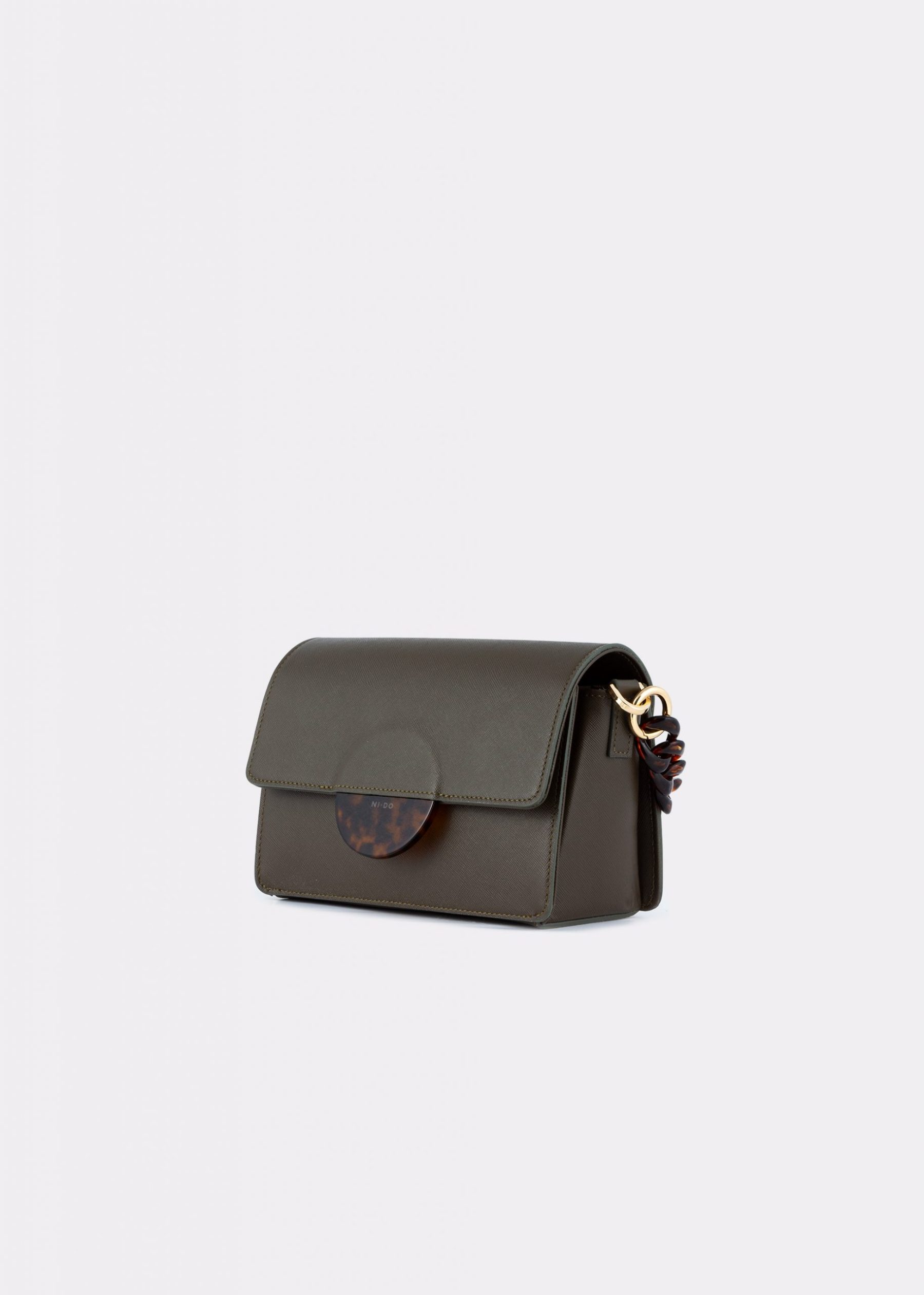 NIDO Cuore_Mini bag Olivegreen_side view