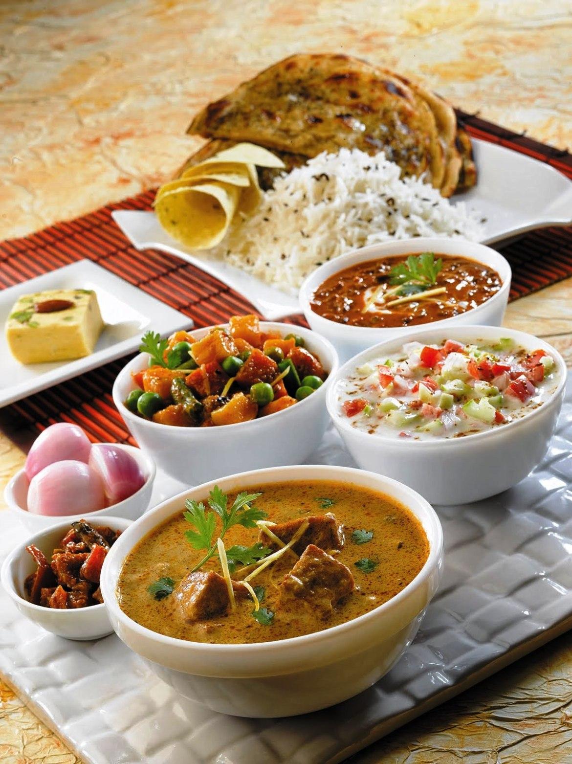 3 indian thali