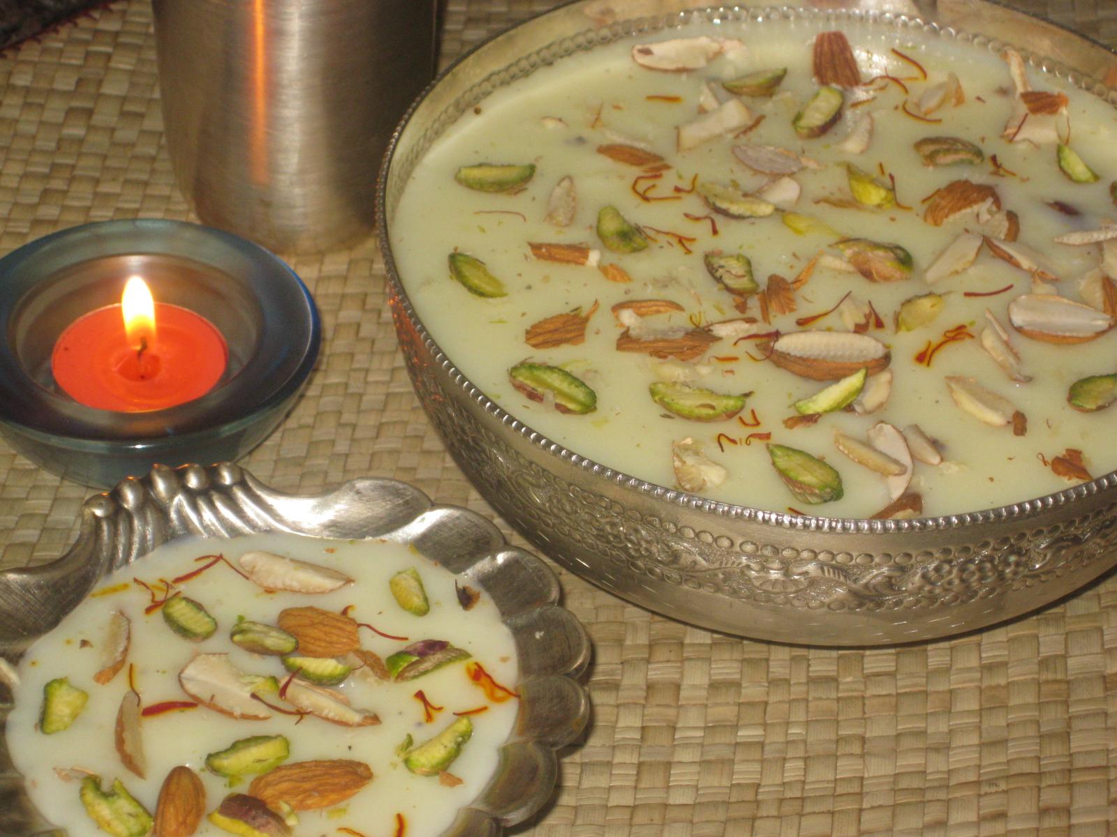 Phirni… good health with yummy Dessert…a rare combination!!