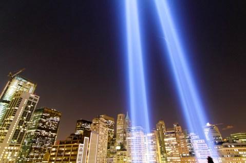 Lichtstrahlen zur Erinnerung an 911