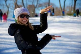 Kris im Schnee