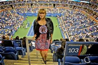 Kris bei der US Open