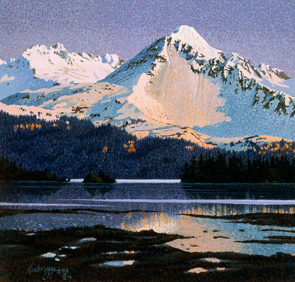 Sold Alaska Snow Covered Mountains Painting