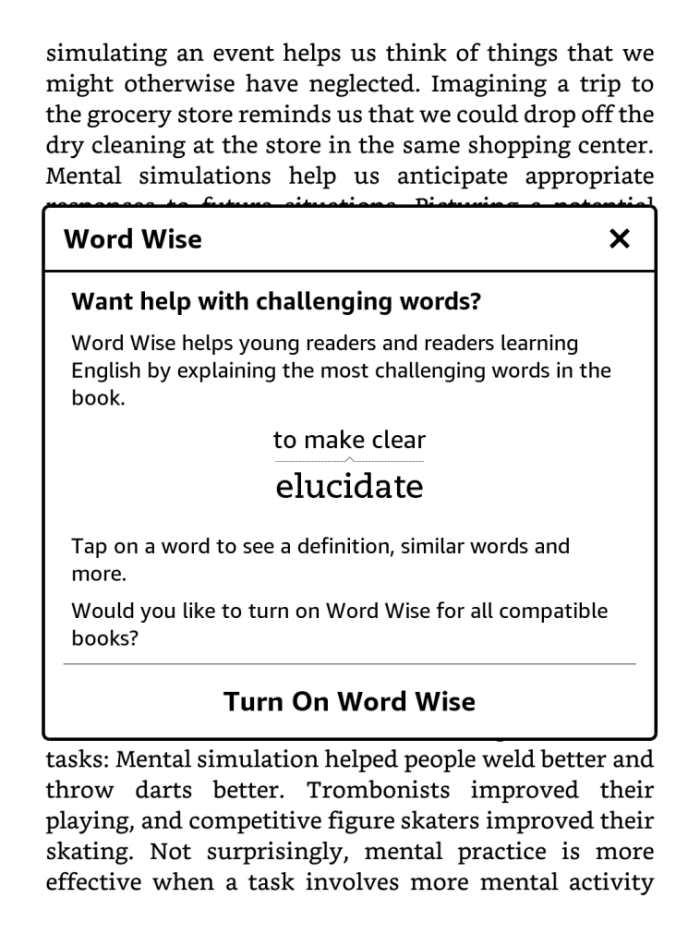 Windows with word wise introduction