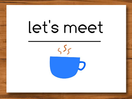 Card Of The Week Lets Meet Over Coffee Niecynotes