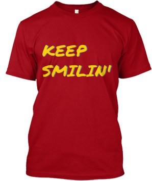 Keep Smilin' Red Tee - niecynotes